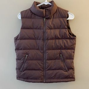 American Eagle brown down fill puffer vest size S
